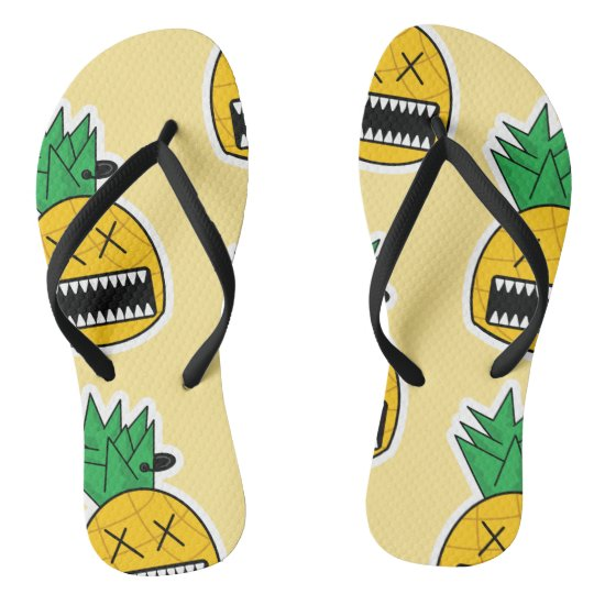 Zombie pineapple Halloween Emo comic by QKDSGNS Flip Flops
