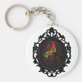 zombie pinup key chain