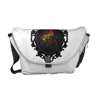 zombie pinup messenger bag