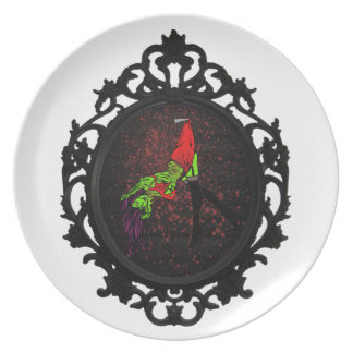 zombie pinup plate