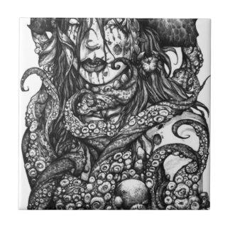 Zombie Pirate Girl Ceramic Tile