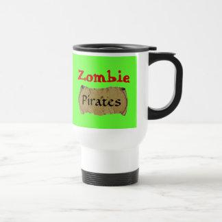 Zombie Pirates 15 Oz Stainless Steel Travel Mug