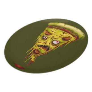 _zombie pizza melamine plate