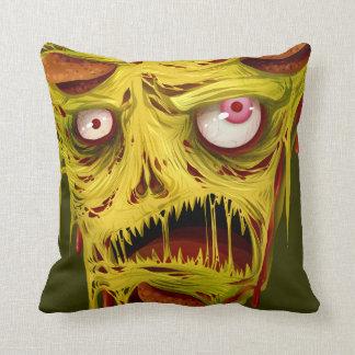 _zombie pizza throw pillow
