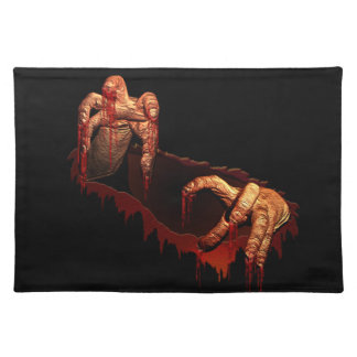 Zombie Place Mats Scary Halloween Party Decor