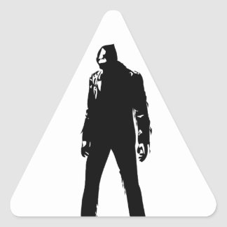 Zombie Plain Design Triangle Sticker
