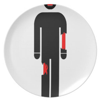 zombie party plates