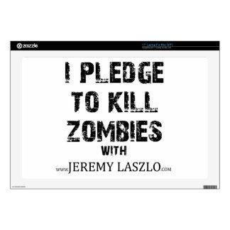 "Zombie Pledge Merch 17"" Laptop Skins"