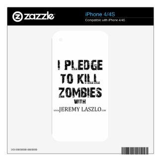 Zombie Pledge Merch Skin For iPhone 4