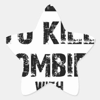 Zombie Pledge Merch Star Sticker