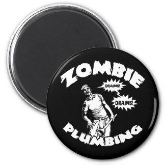 Zombie Plumbing 2 Inch Round Magnet