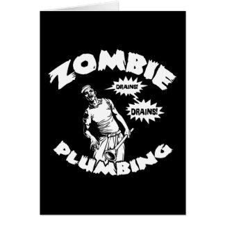 Zombie Plumbing Greeting Card