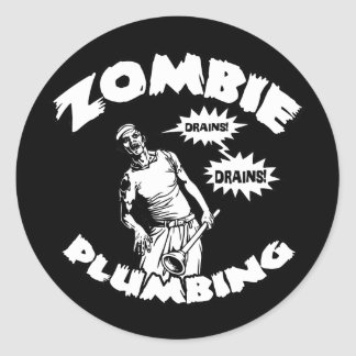 Zombie Plumbing Stickers