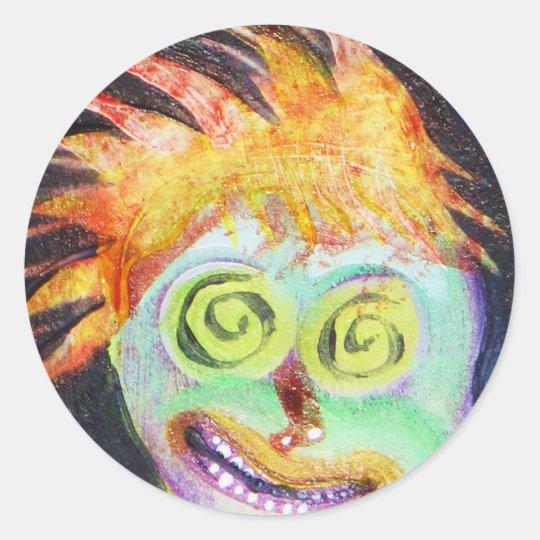Zombie POP Art Classic Round Sticker
