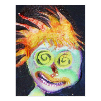 Zombie POP Art Postcard