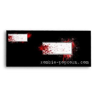 Zombie Popcorn Envelope