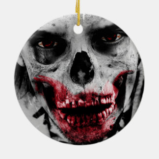 Zombie portrait artistic illustration ceramic ornament