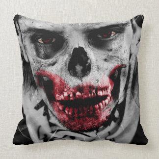 Zombie portrait artistic illustration pillow