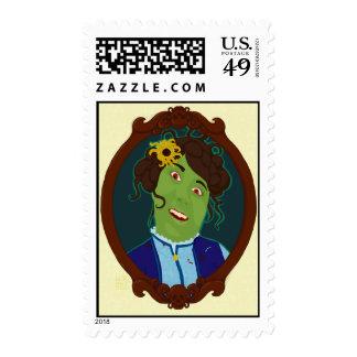 Zombie Portrait Postage