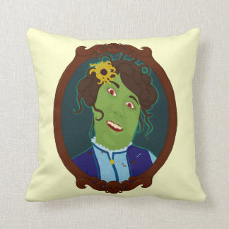 Zombie Portrait Throw Pillow
