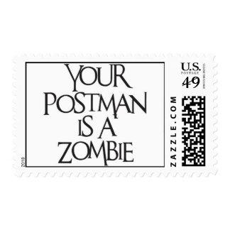 Zombie Postman Postage Stamps