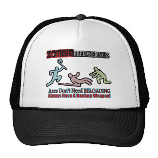 Zombie Preparedness Axes Reloading Design Mesh Hat