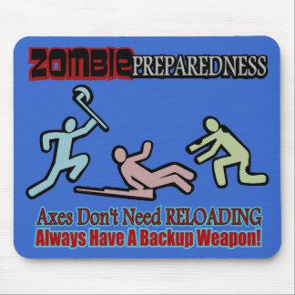 Zombie Preparedness Axes Reloading Design Mouse Pad