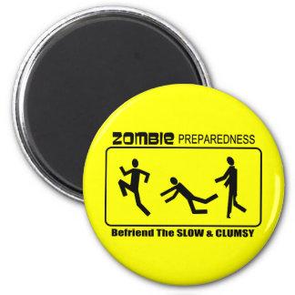 Zombie Preparedness Befriend Slow ALL COLOR Design 2 Inch Round Magnet