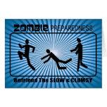 Zombie Preparedness Befriend Slow ALL COLOR Design Greeting Cards