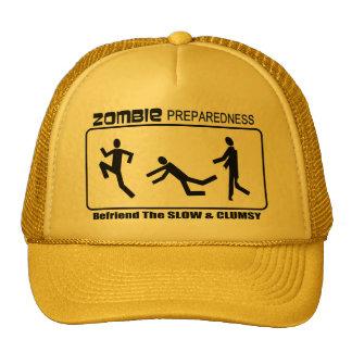 Zombie Preparedness Befriend Slow ALL COLOR Design Trucker Hats