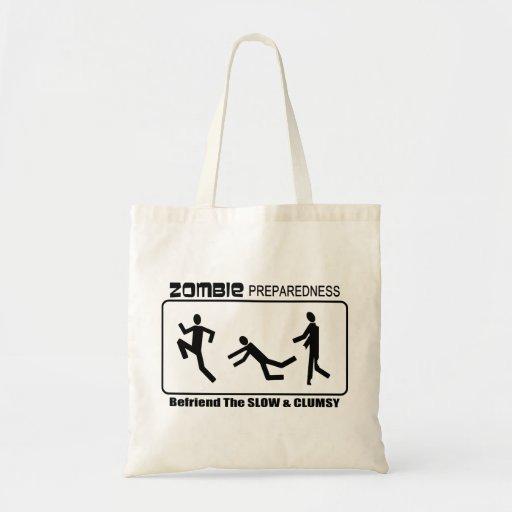 Zombie Preparedness Befriend Slow ALL COLOR Design Tote Bag