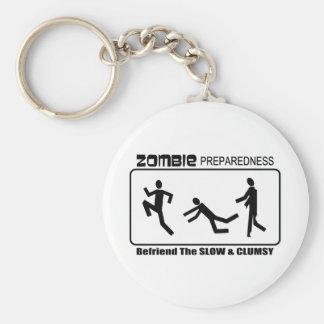 Zombie Preparedness Befriend Slow Design Basic Round Button Keychain