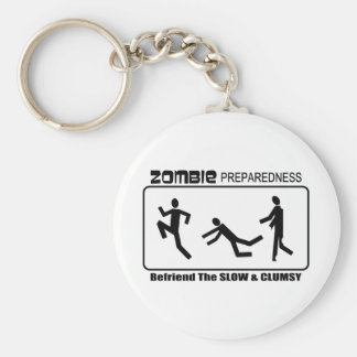 Zombie Preparedness Befriend Slow Design Key Chain