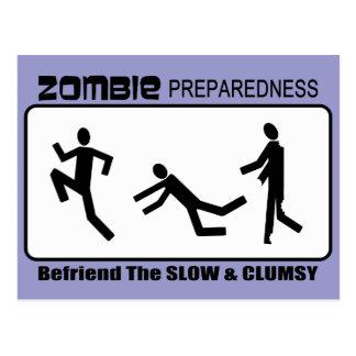 Zombie Preparedness Befriend Slow Design Postcard