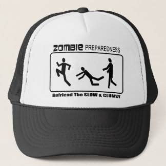 Zombie Preparedness Befriend Slow Design Trucker Hat
