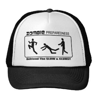 Zombie Preparedness Befriend Slow Design Trucker Hat