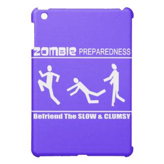 Zombie Preparedness Befriend Slow WHITE Design iPad Mini Cases