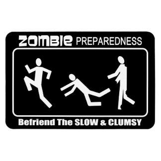 Zombie Preparedness Befriend Slow WHITE LG Design Flexible Magnets