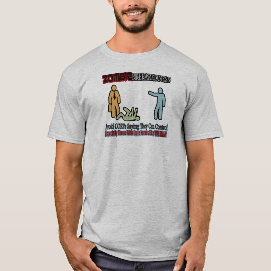 Zombie Preparedness Corp Control Design T-Shirt