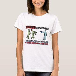 Zombie Preparedness Head Shot Design T-Shirt