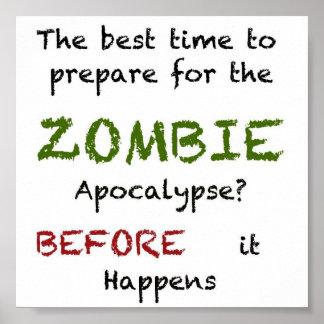 Zombie Preparedness Poster