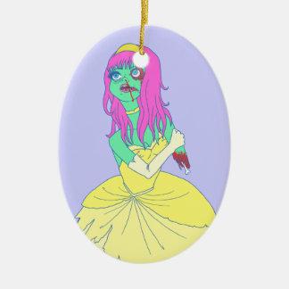 Zombie Princess Ceramic Ornament
