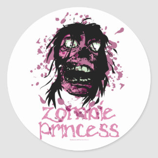 Zombie Princess Classic Round Sticker