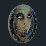 """Zombie ProfiledInk Dart Board<br><div class=""""desc"""">Sissy Pesticide, &quot;the Tart of Pop&quot; In the vein of Shock Rockers (a weirdo dude with a girly nickname) here comes horror painter Sissy Pesticide! Sissy&#39;s work is inspired by pills and booze, great music, Horror Movies, vintage crime, risqu&#233; naughtiness, with a razor edge of classic heartbroken glamour featuring dangerous...</div>"""