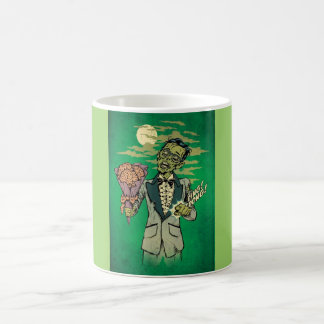 zombie prom date with brain roses magic mug