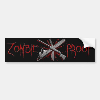Zombie-Proof (Black) Bumper Sticker