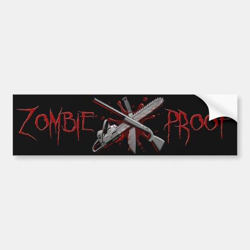 Zombie-Proof (Black) Car Bumper Sticker