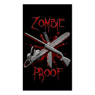 Zombie Proof Weapons Business Card