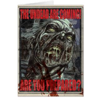 Zombie Propaganda Poster Card
