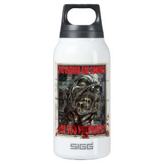 Zombie Propaganda Poster Insulated Water Bottle